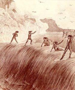 Imagen de los orígenes del surf